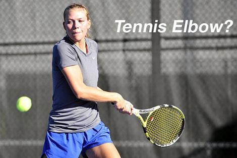 tennis player tennis elbow