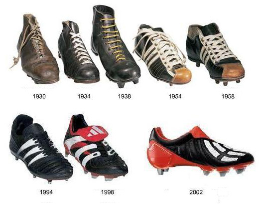 history of football boots