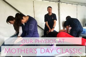 Volunteer Physiotherapy at the Mother's Day Classic Running Event