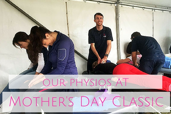 physiotherapy at Mother's Day Classic