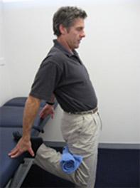 Quadriceps Stretch with Towel