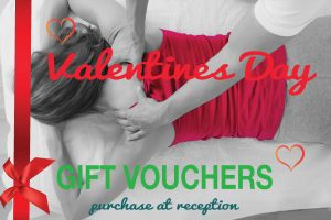 Valentine's Day – Massage Gift Vouchers Available