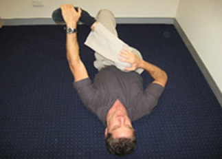 Gluteal Stretch on the Floor
