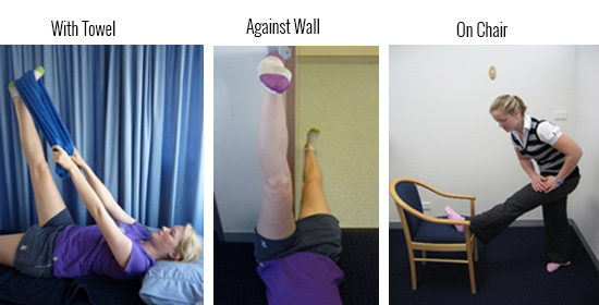 Hamsting Stretch 3 ways
