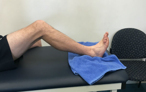 Knee slidess ACL Rehab Stretch
