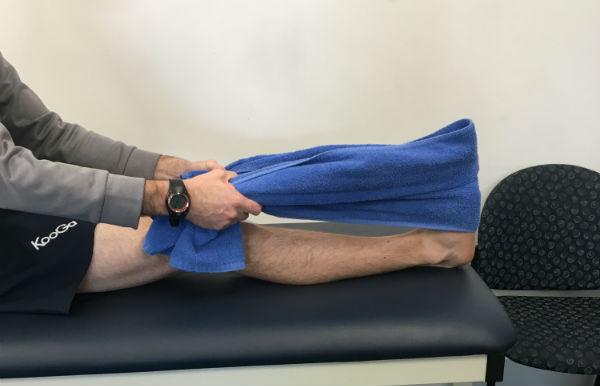 Sitting Calf Stretch ACL Rehab Stretch