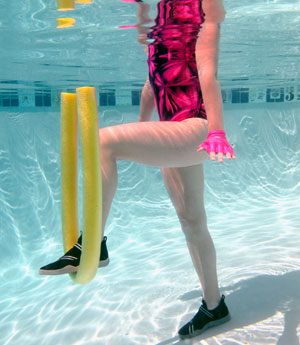 hydrotherapy one legged balance