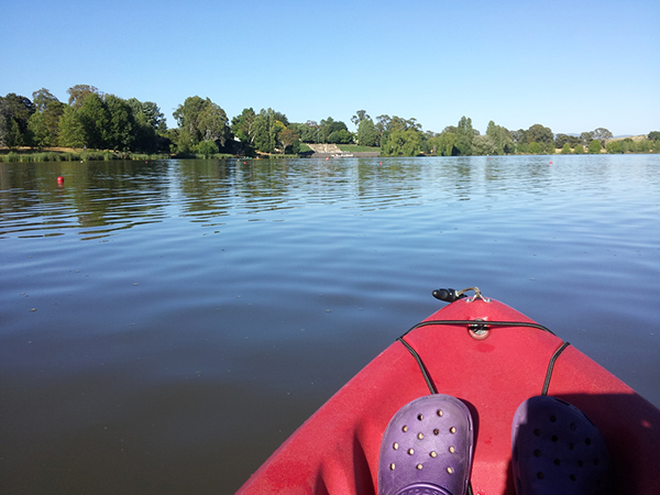 Kayaking canberra