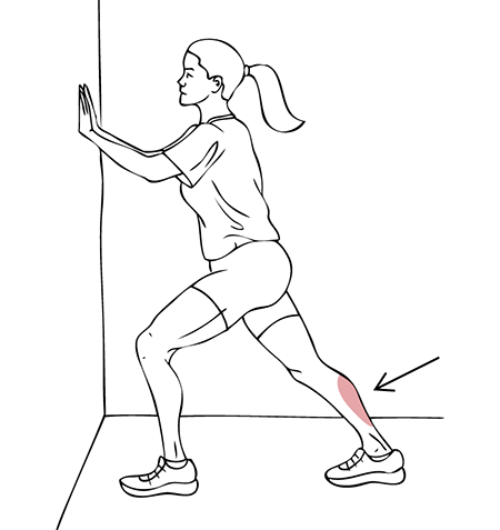 Standing Calf Stretch Exercise