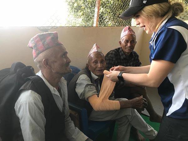 Nepal Physio Jenna bandage