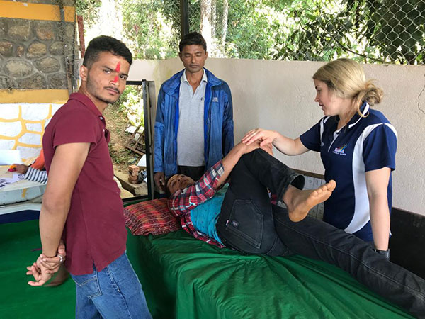 Nepal Physio on table