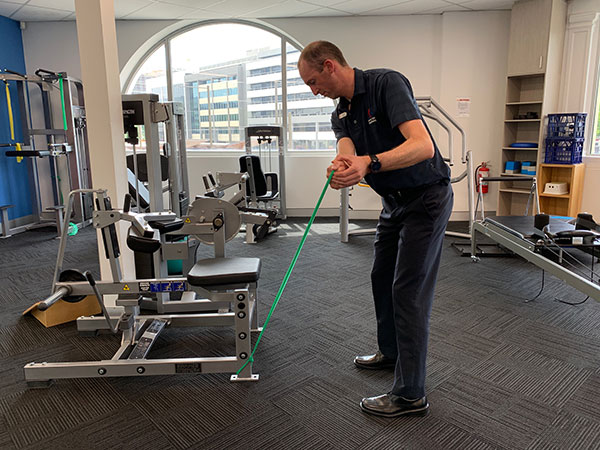 Golf Swing rotations exercise 1