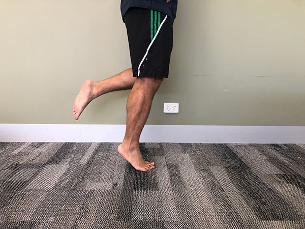 Straight Leg Calf Raise on floor