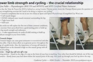 Lower Limb Strength - Canberra cyclist