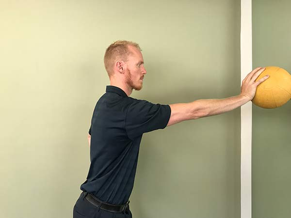 Ball on Wall 1 for Rotator Cuff Strengthening